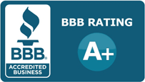 A+ Better Business Bureau Rating Graphic